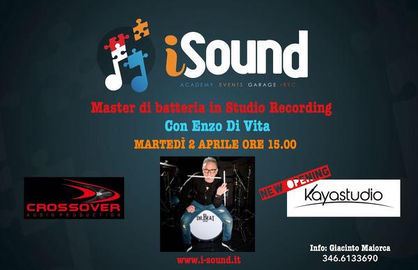 Master di batteria in studio recording